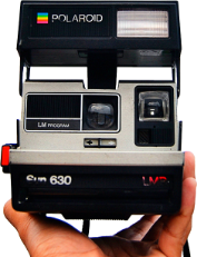 camera polaroid cutout