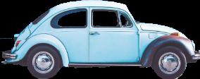 retro silhouette car