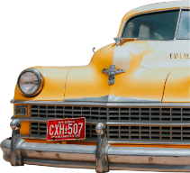 car vintage silhouette cut out