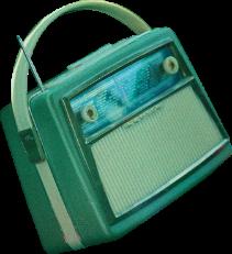 green radio vintage