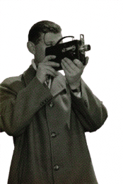 camera with man vintage png