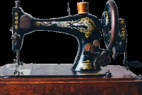 sewing machine silhoute cutout