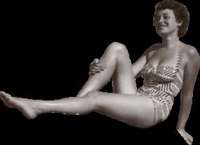 woman girl old-fashioned cutout