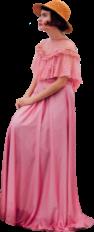 pink woman vintage png