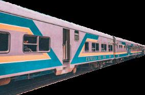 train vintage blue