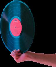 vinyl hand silhoutte