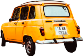 yellow car vintage png