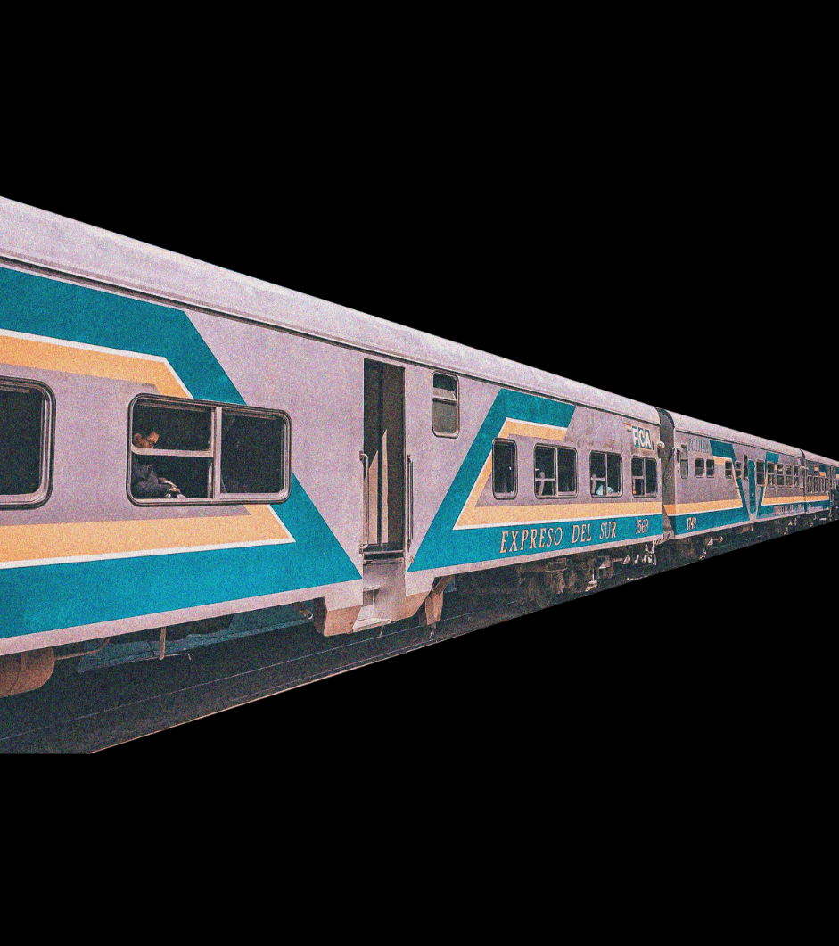 train vintage cutouts